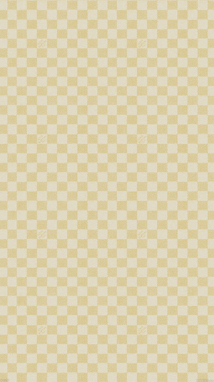 Lv Gold Damier Checkered Pattern Wallpaper Background Phone Iphone