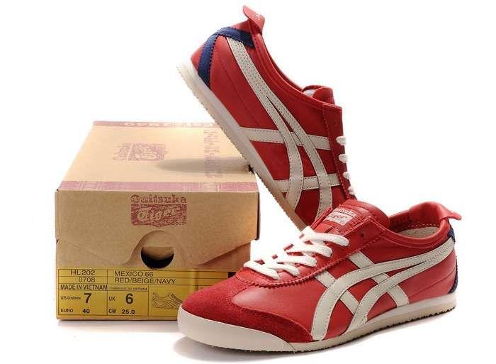 negar Beber agua Gran universo  Asics Onitsuka Tiger Mexico 66 Romantic Couples shoes Red Beige ...