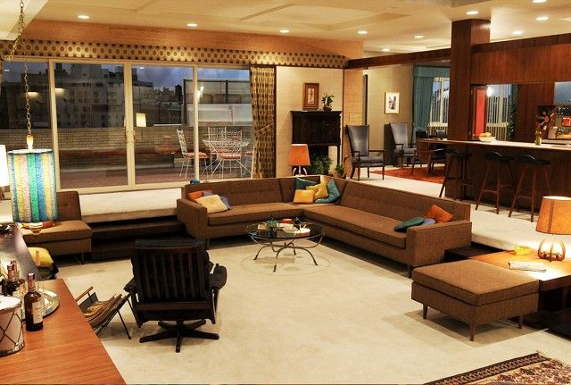 All The Best Interiors From Mad Men Sets Chq Living Room Designs Sunken