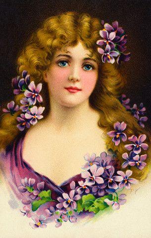 vintage postcards photos Victorian ladies