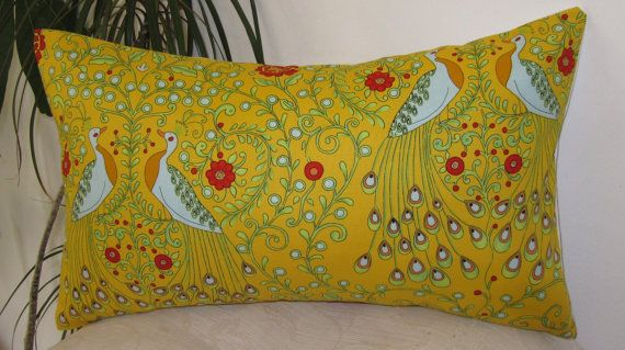 Decorative Throw Pillow Cover  Peacocks in by precioussewingbox, $22.00