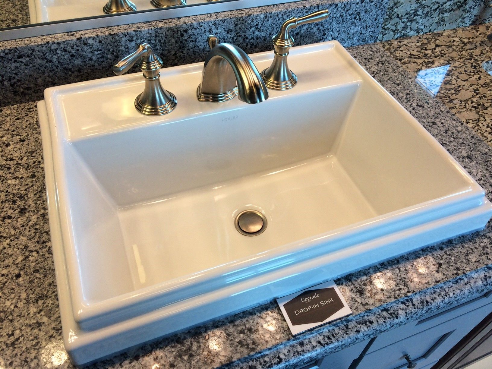 Upgraded Bathroom Sink - Square Drop-In
