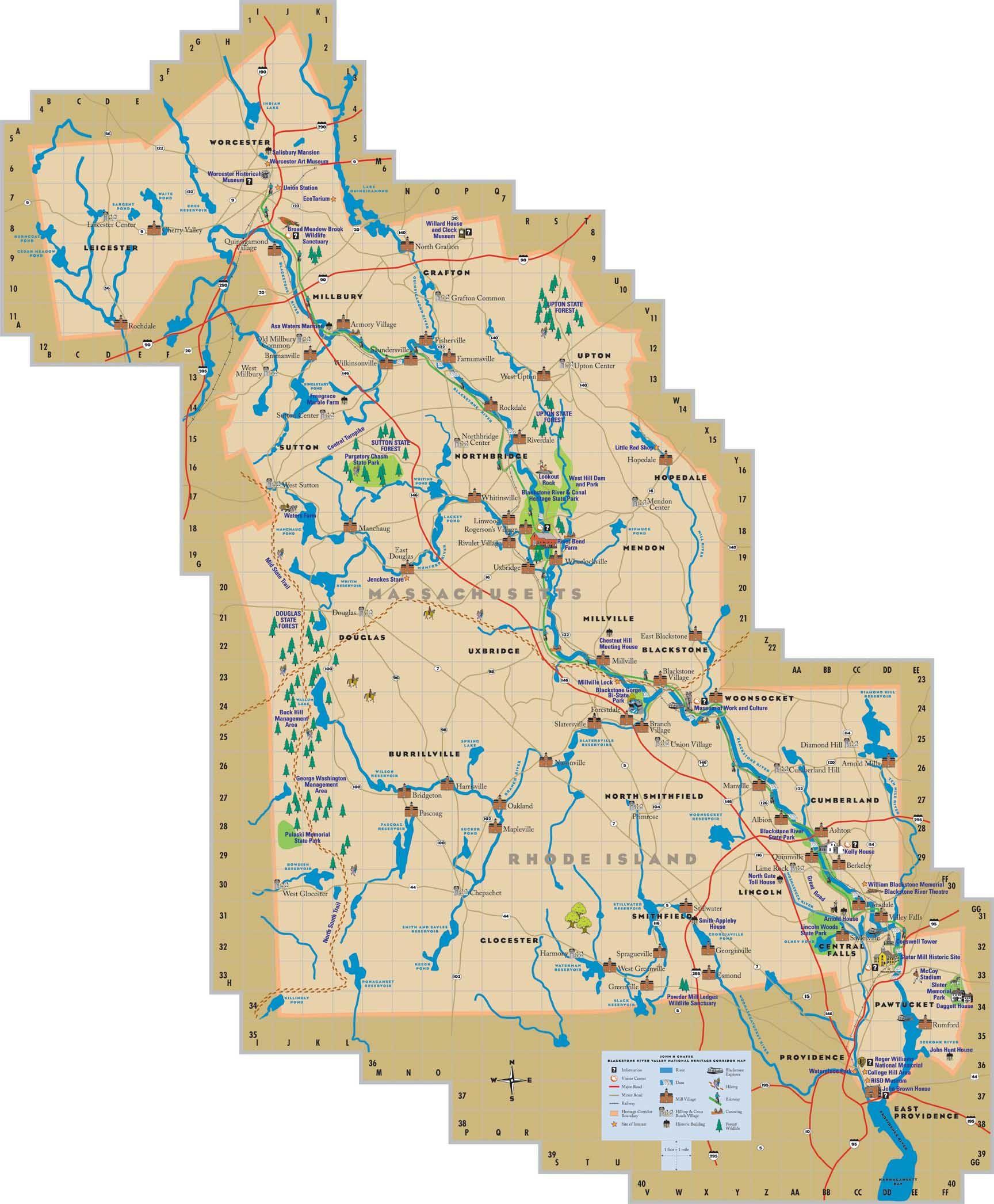 Blackstone Valley Tourist Map Tourist Map Tourist Blackstone