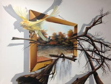 "Saatchi Art Artist Eka Peradze; Painting, ""freedom. 3D  60x80"" #art"