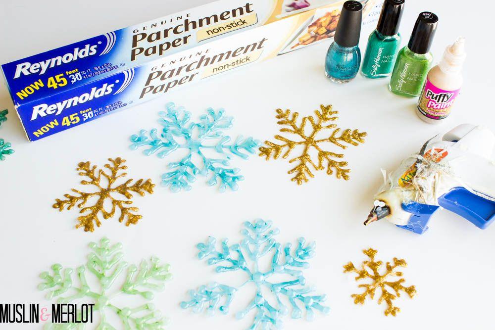 Glue Gun Snowflake Craft Supplies