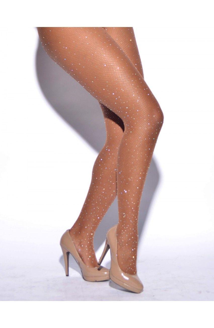 55f3478b508a2 Crystallized Fishnet Tights | My Style | Rhinestone fishnet tights ...