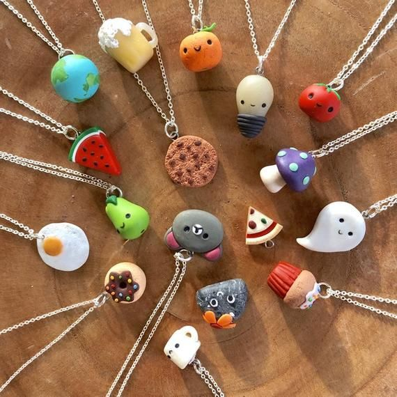 Photo of Valentine's Day Special cute small handmade clay pendants with a heartfelt message