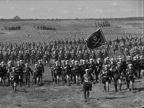Battalion of Death. White Army soldier from 1934 Soviet film Chapaev. It was directed by the Vasilyev brothers for Lenfilm. It is a story about Vasily Ivanovich Chapaev, a Red Army commander who became a hero of the Russian Civil War.