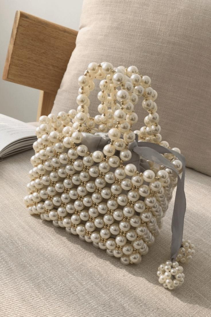Party Bag Beaded Bag Pearl Bag Evening Bag Bag Beaded Evening Party Pear En 2020 Patrones De Joyeria Con Cuentas Bolsos Con Borlas Bolsos De Ganchillo