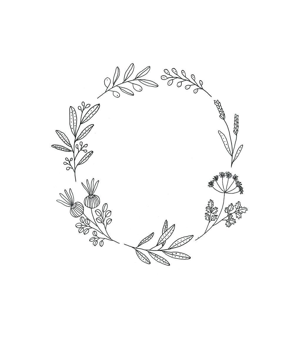 Pin By Cherish Walker On Pretties Wreath Tattoo Wreath Drawing