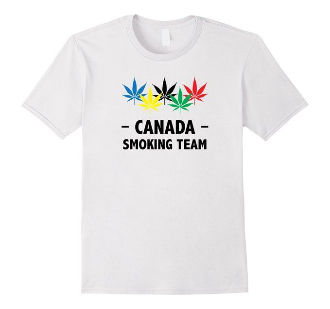 0c25b7ee533e4 Amazon.com: Canada Smoking Team 2016 Games T-Shirt: Clothing   The ...