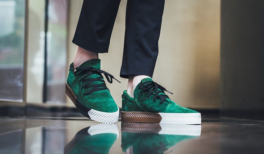 official photos 33e45 0b367 adidas x Alexander Wang AW Skate Green - UK 4.5 ...
