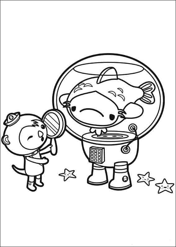 The Octonauts Coloring Pages 5 Fish Coloring Page Coloring