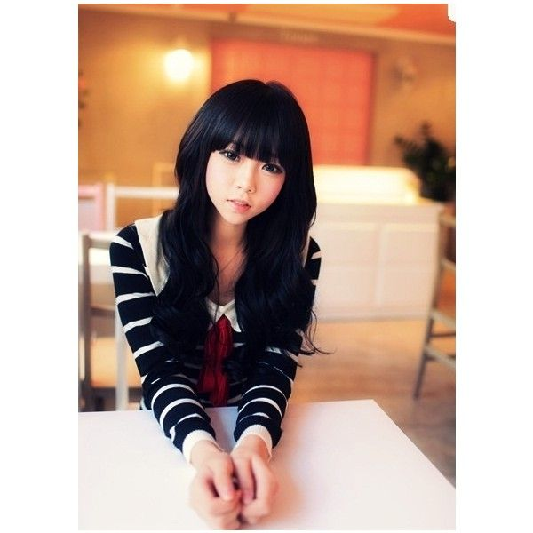 Kim Da Hyeon (Ulzzang) ❤ liked on Polyvore featuring hair and ulzzang