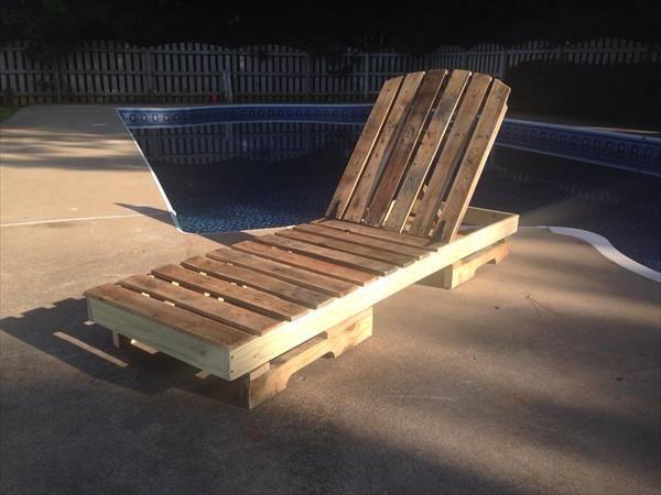 diy pallet sunbed time for rest in your garden pinterest