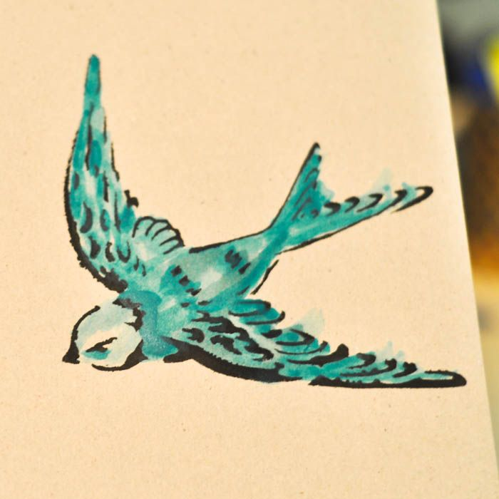 All You Need Is Love Swallow Wall Art Turquois Shades Of Blue