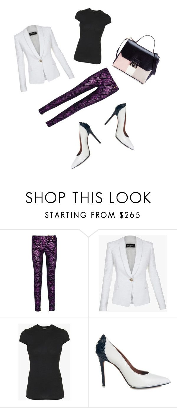 """""""Business Woman"""" by adityaryan on Polyvore featuring Balmain, Givenchy, Kate Spade, women's clothing, women's fashion, women, female, woman, misses and juniors"""