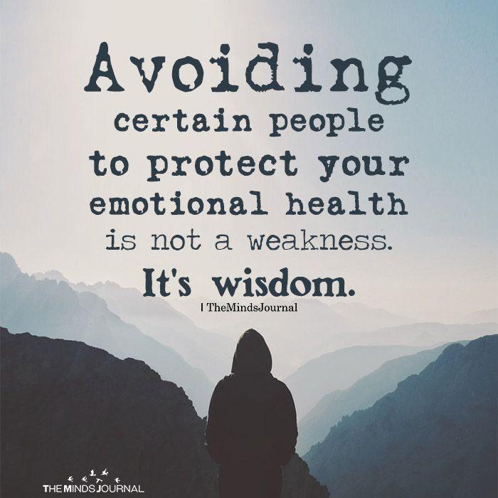 Vermeiden Sie bestimmte Personen, um Ihre emotionale Gesundheit zu schützen #inspiringpeople
