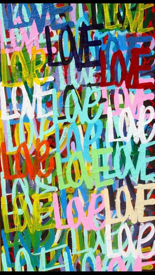 Love Colorato Dipinti Facili Tele Dipinte A Mano Dipinti Semplici