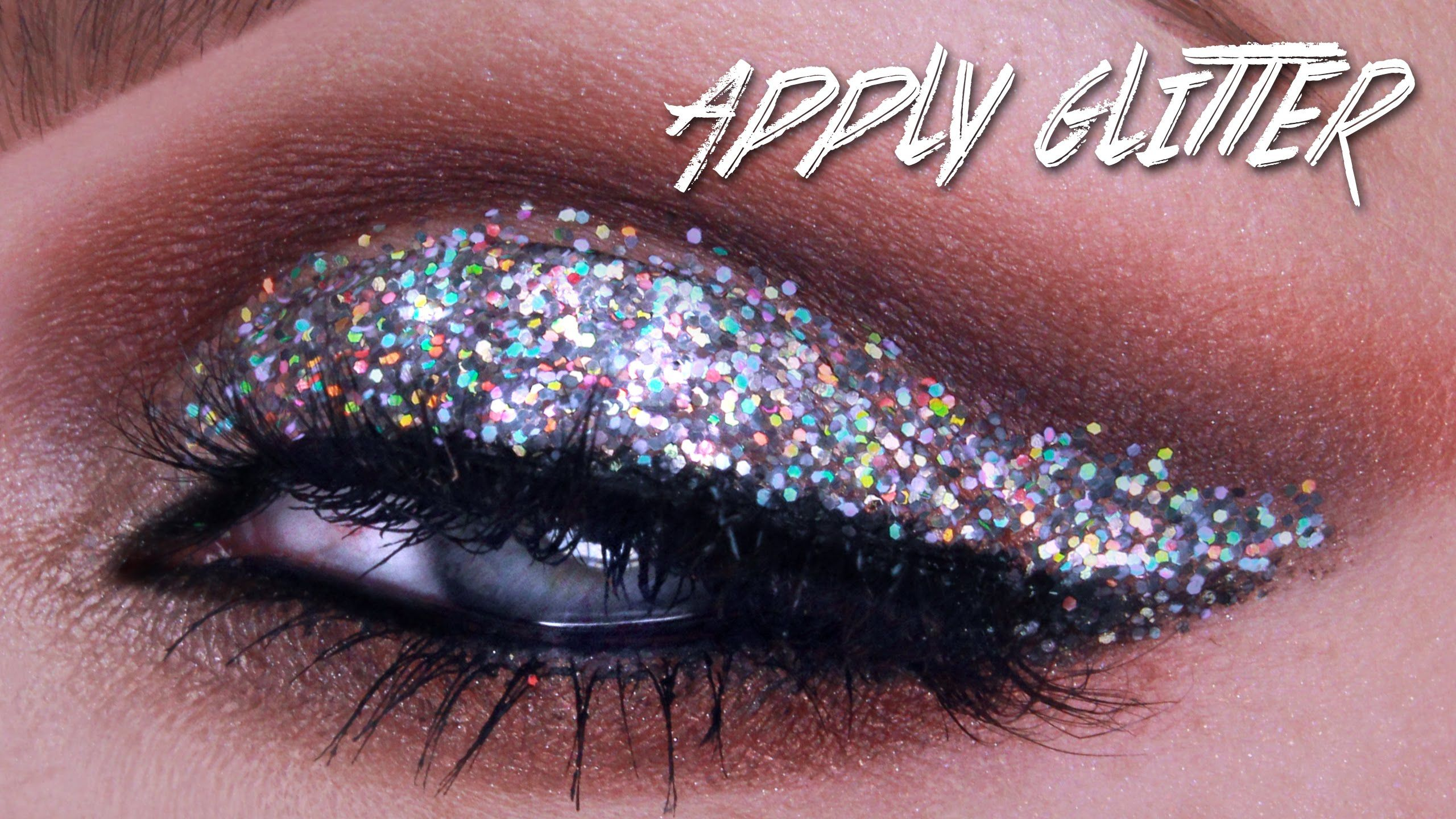 QUICK TIP HOW TO APPLY MAKEUP GLITTER (With images