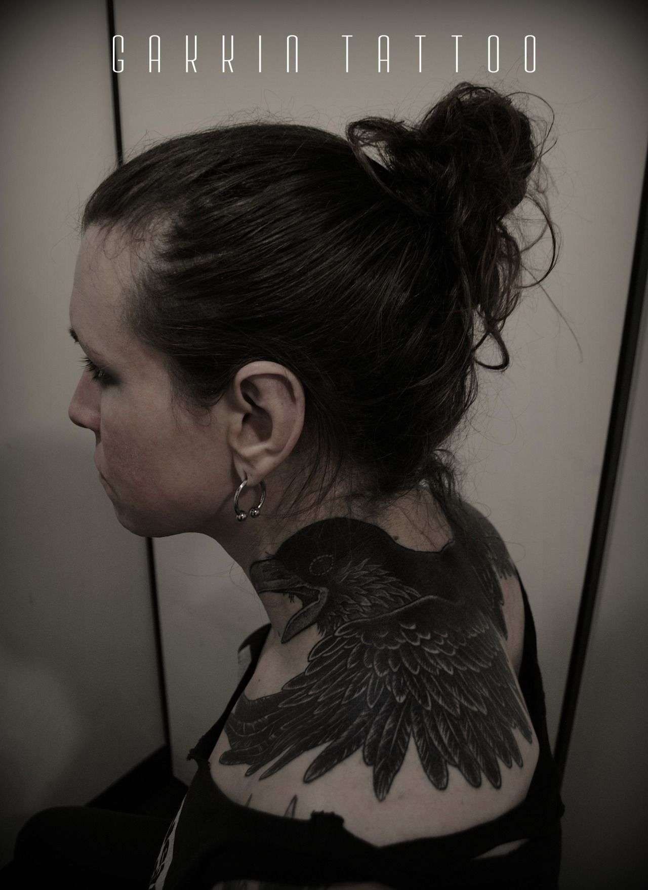 """ 2Heads Raven on Laura Jane Grace from AGAINST ME. Freehand work in Kyoto, Japan GAKKIN TATTOO """