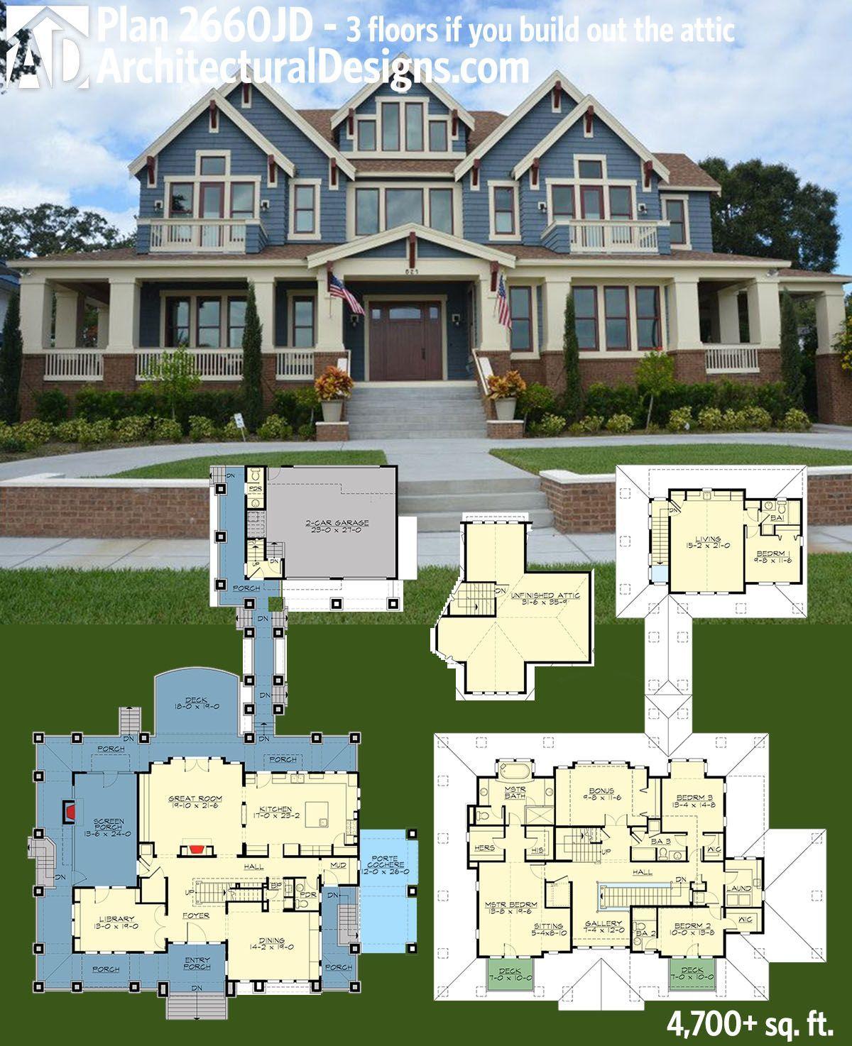 Funky Design Luxury House Plans House Plans Garage House Plans