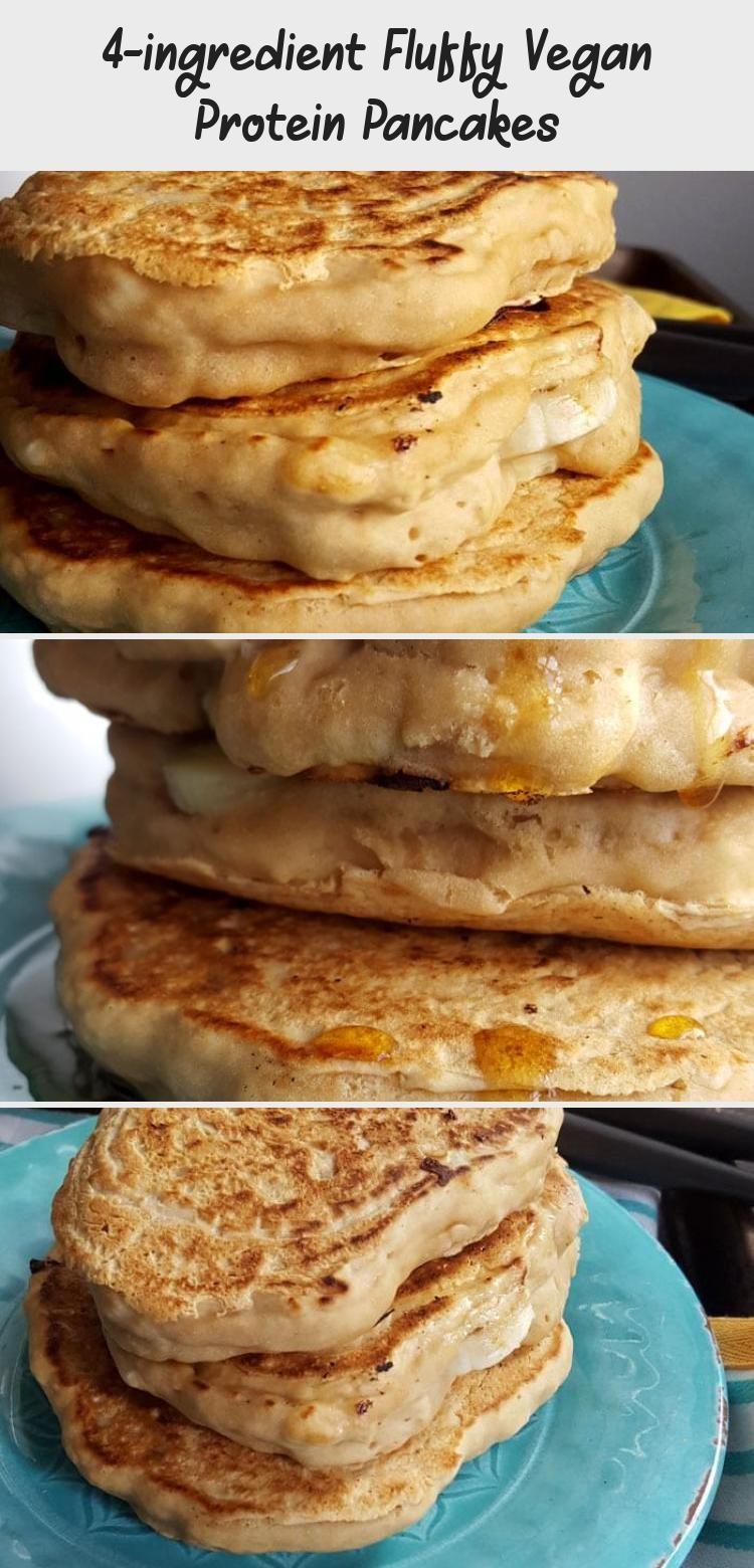 4 Ingredient Fluffy Vegan Protein Pancakes Vegan Protein Pancakes Protein Pancakes Vegan Protein