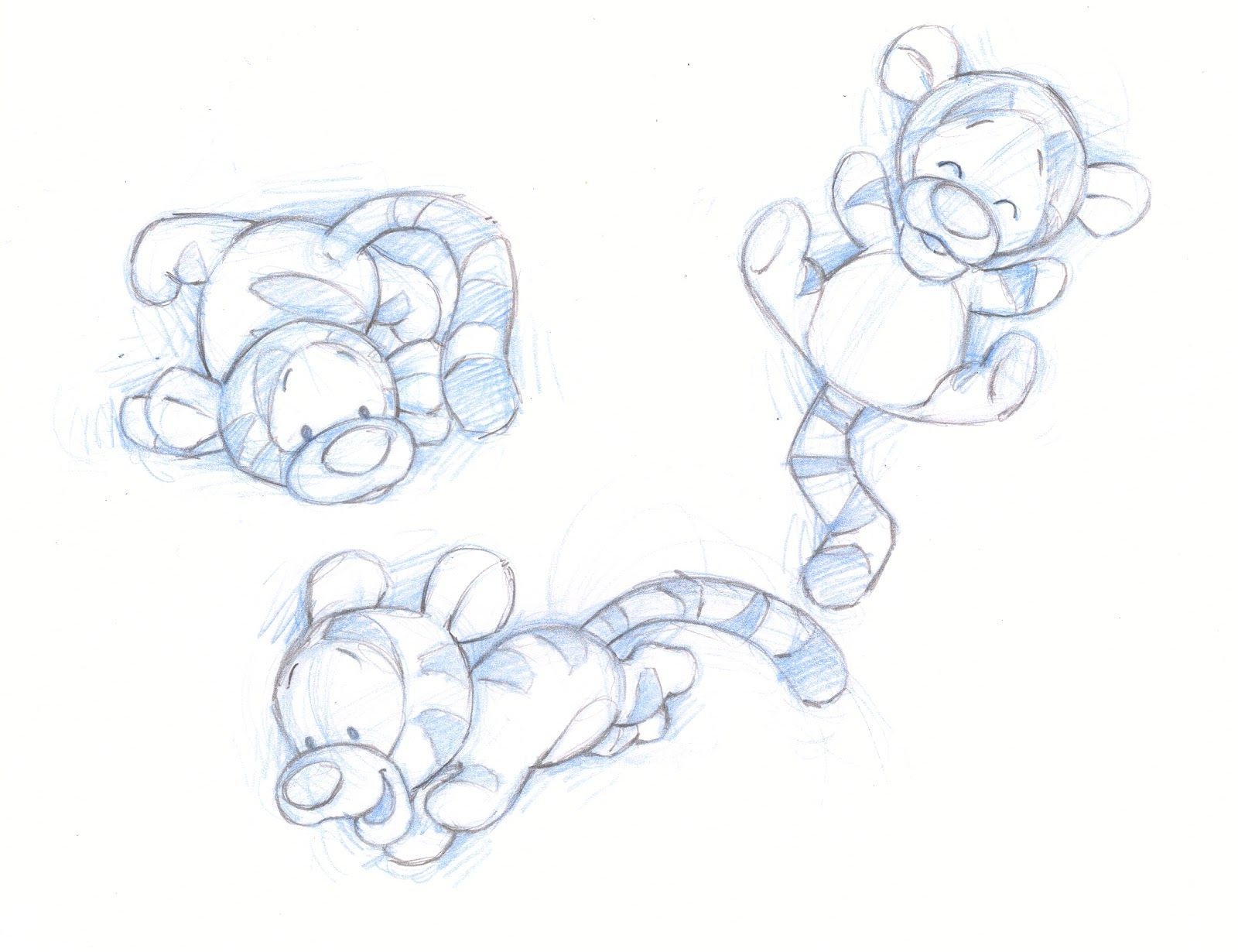 Shane Made Art: Baby Pooh and friends sketches | Drawings ...