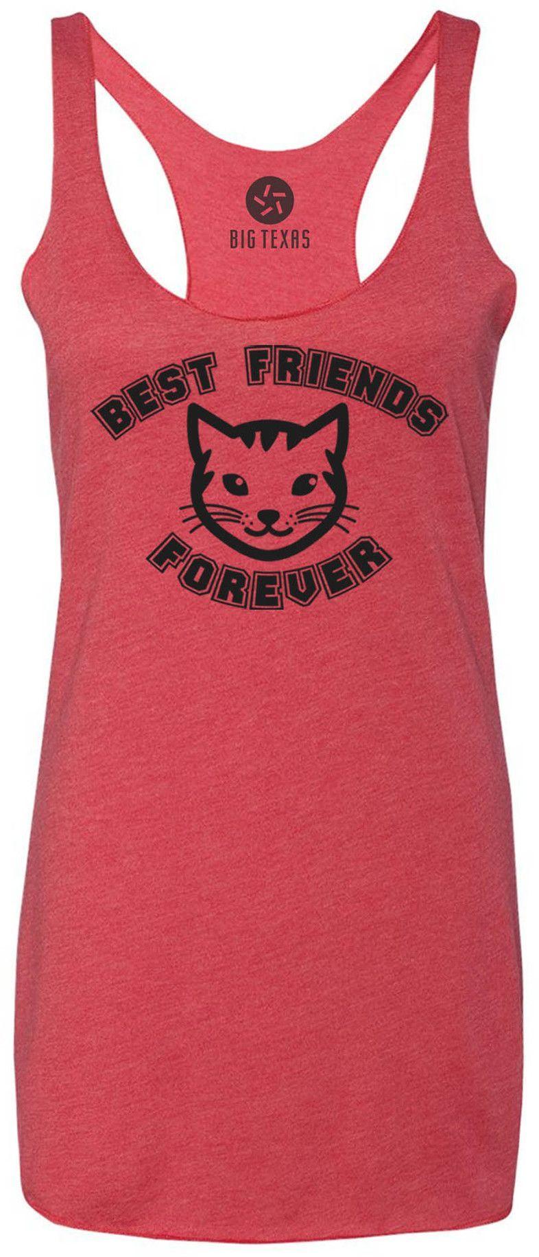 Best Friends Kitten (Grey) Tri-Blend Racerback Tank-Top