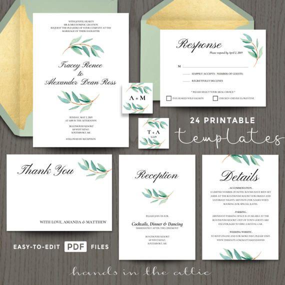 Invitation templates mint green wedding template download diy - download invitation templates