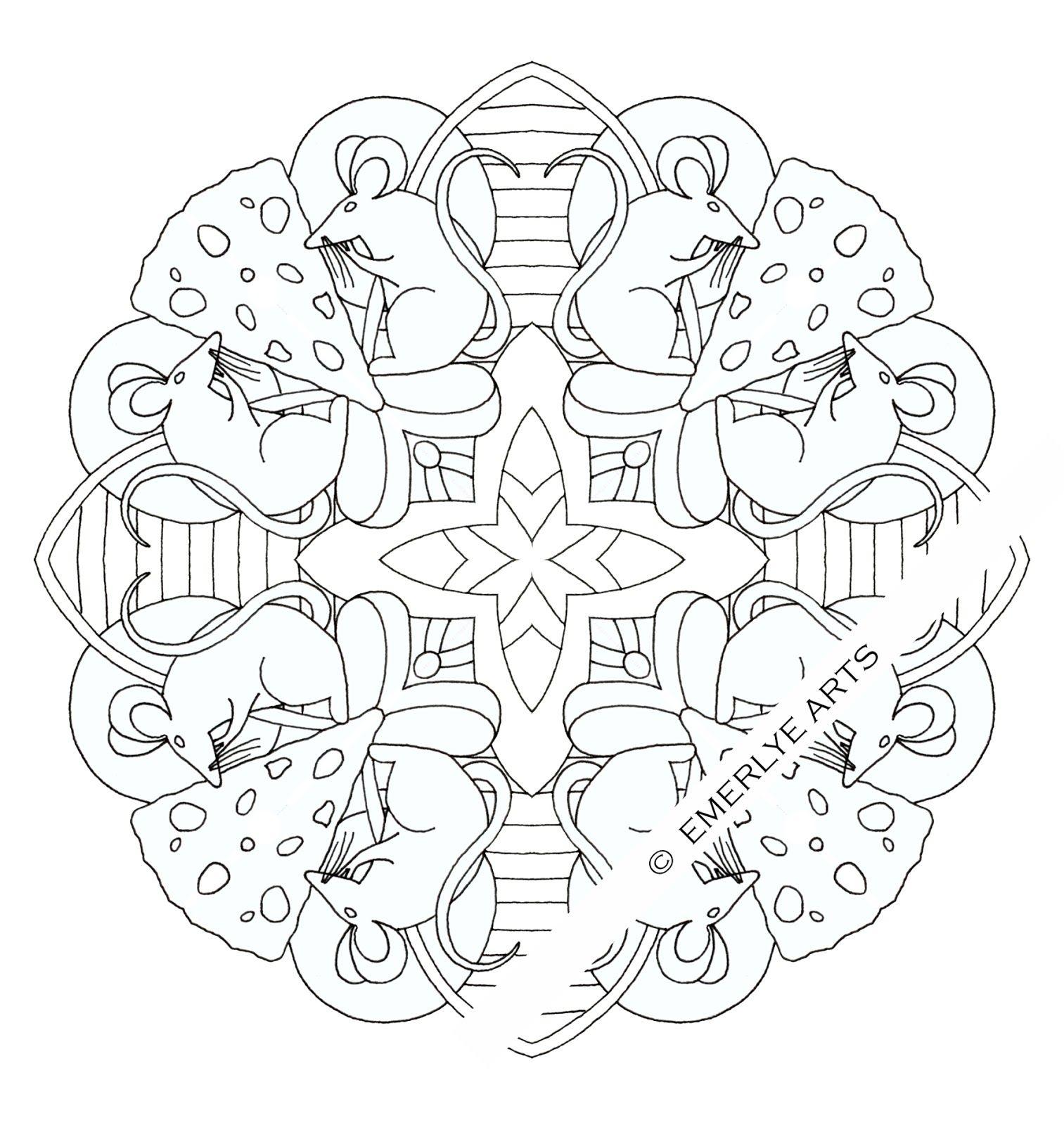 121030+Mouse+Mandala+WMKweb.jpg (1513×1600)   Для квилта: Вильям ...