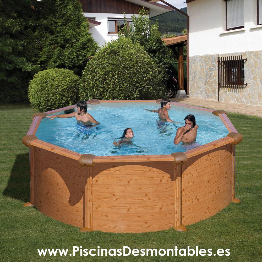 Las piscinas de imitaci n a madera de gre llevan el dibujo que imita a la madera impreso sobre - Piscinas desmontables madera ...