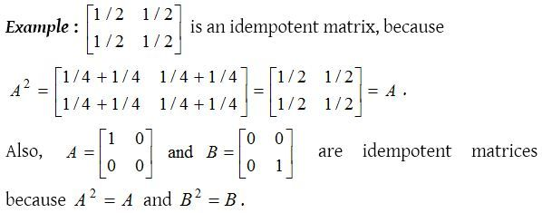 What Are The Special Types Of Matrices Matrix Type Special