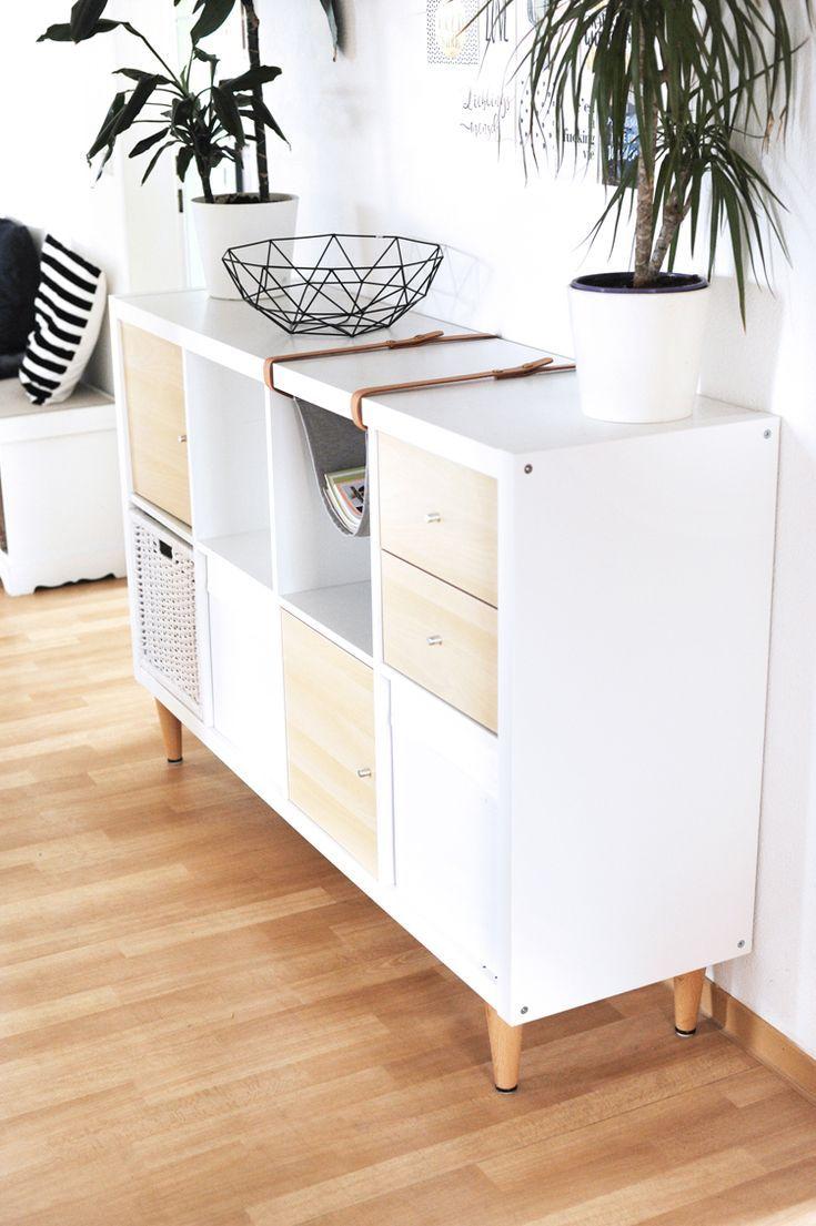 Photo of Pflanzenständer mit IKEA Kisten selber bauen – WOHNKLAMOTTE   Ikea boxes, Ikea hack, Ikea