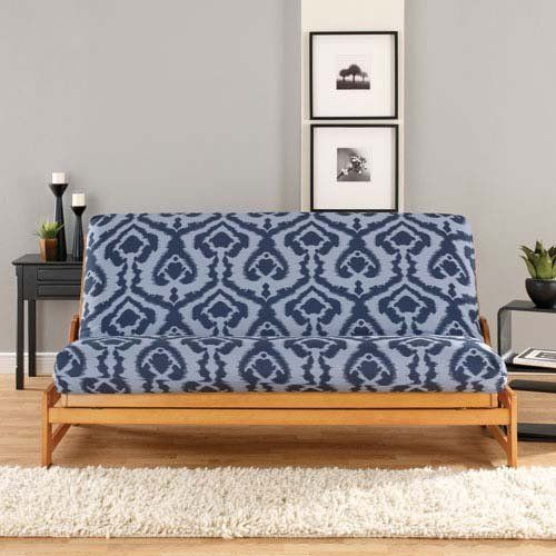 Navy And Light Blue Ikat Futon Cover By Sure Fit 59 98 Several Colors Available