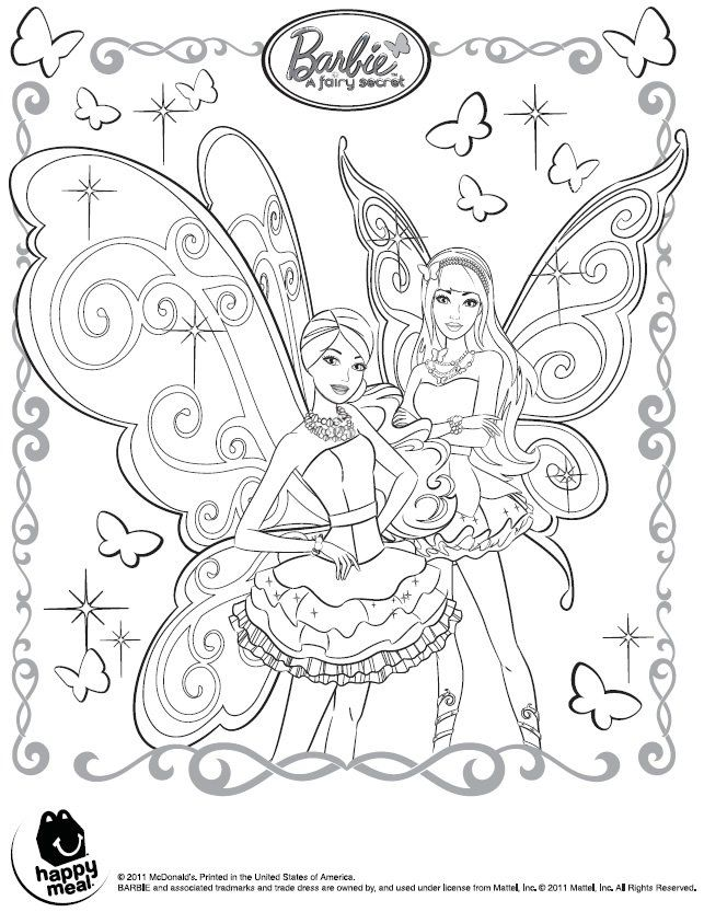 Barbie Fairy Coloring PagesKidsfreecoloringNet
