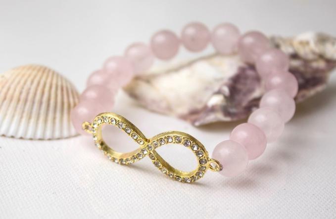 Quartz beads bracelet made by Julija Dukate from LC.Pandahall.com