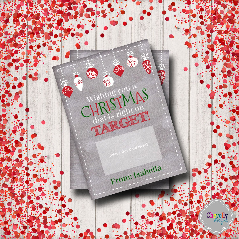 Target christmas gift card printable xmas006 holiday