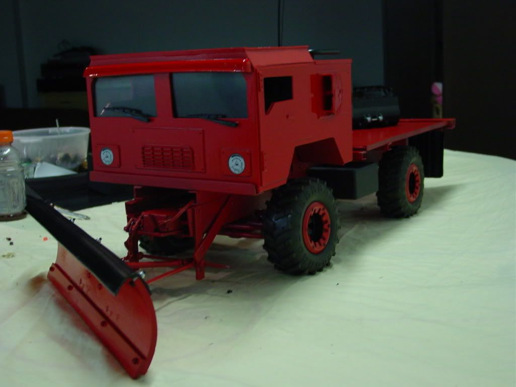 Snow s coming plow truck 1 of 2 with wing scale 4x4 r