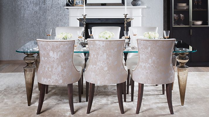 Olympia Dining   luxury and upholstered  Charles  dining chairs and Olympia Dining  Table. Olympia Dining   luxury and upholstered  Charles  dining chairs