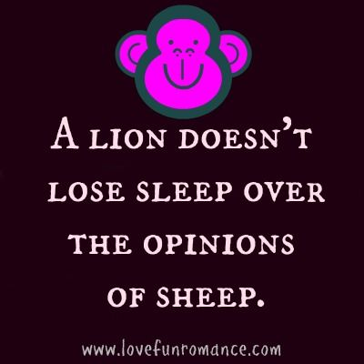 Lovefunromance Lion Doesn T Lose Sleep Over The Opinions Of