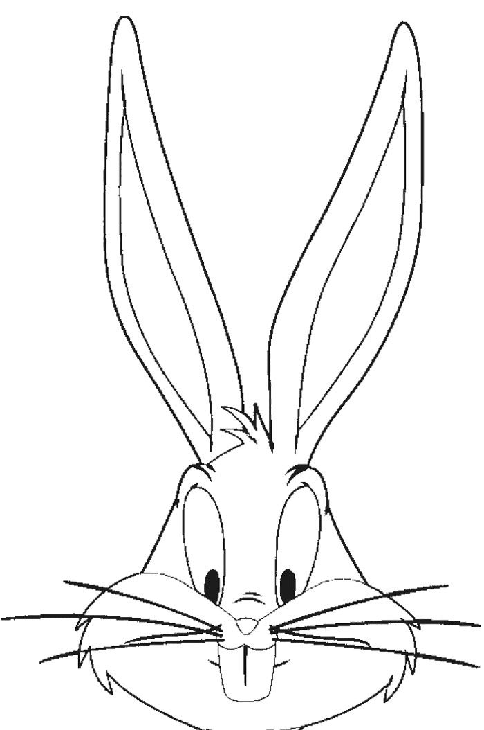 Face Bugs Bunny Coloring Page  Bunny party  Pinterest  Coloring