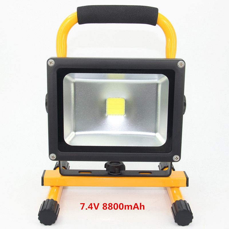 Portable Rechargeable Led Flood Light 20w Waterproof Ip65 Camping Lamp Outdoor Garden Street Spotlight Floodlight Camping Lamp Flood Lights Portable Led Lights