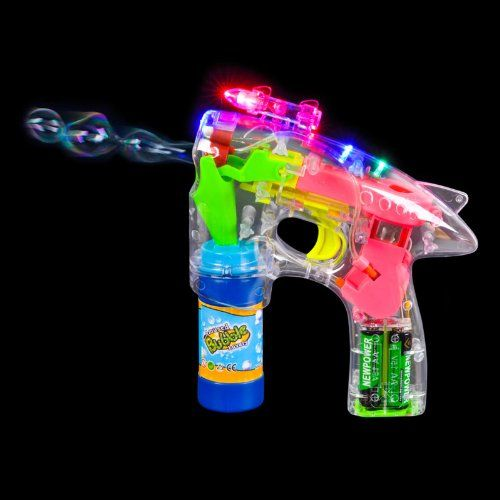 Rhode Island Novelty LED Bubble Gun with Laser and Sound Party Accessory $7.96