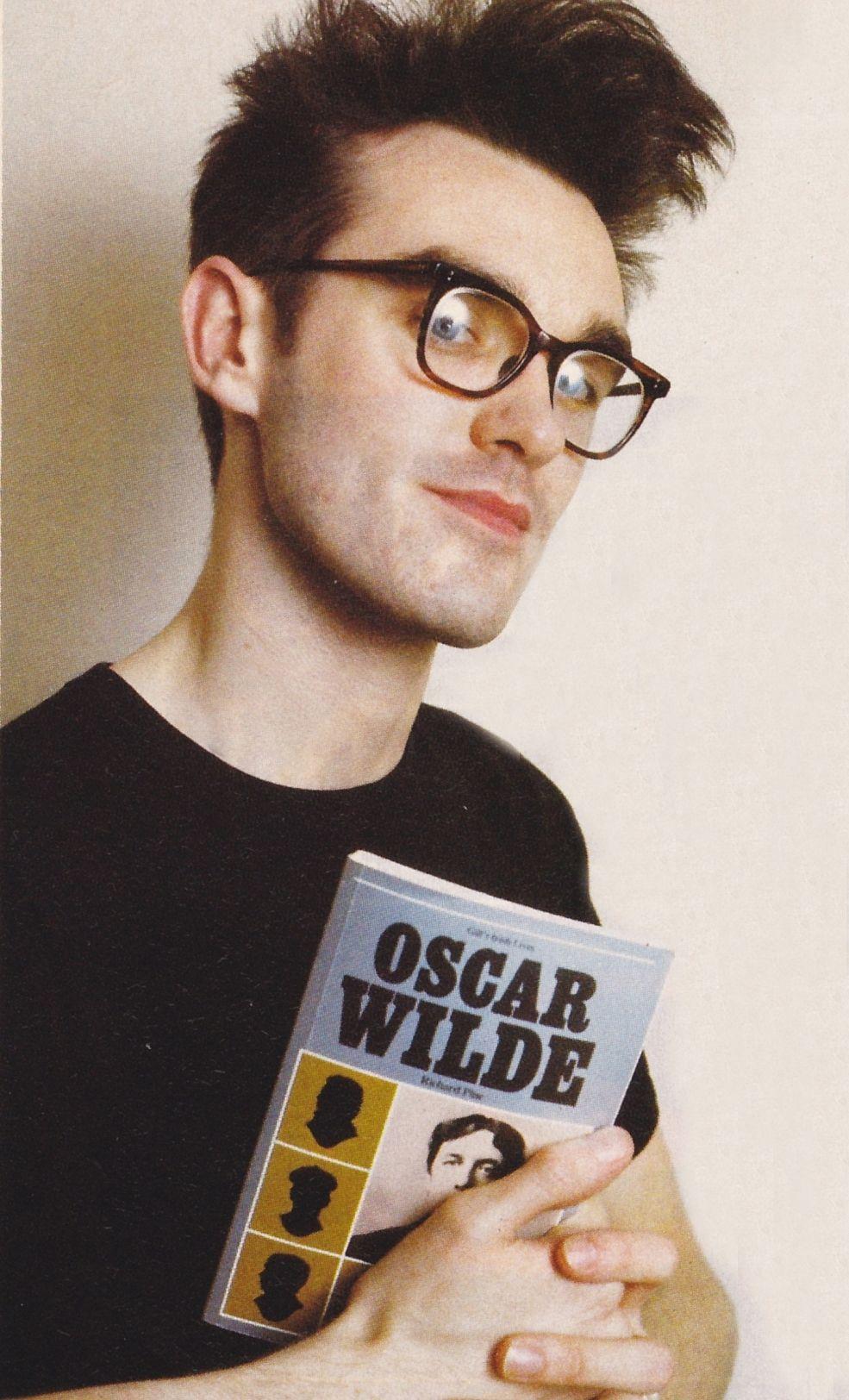 Morrissey With Oscar Wilde Book