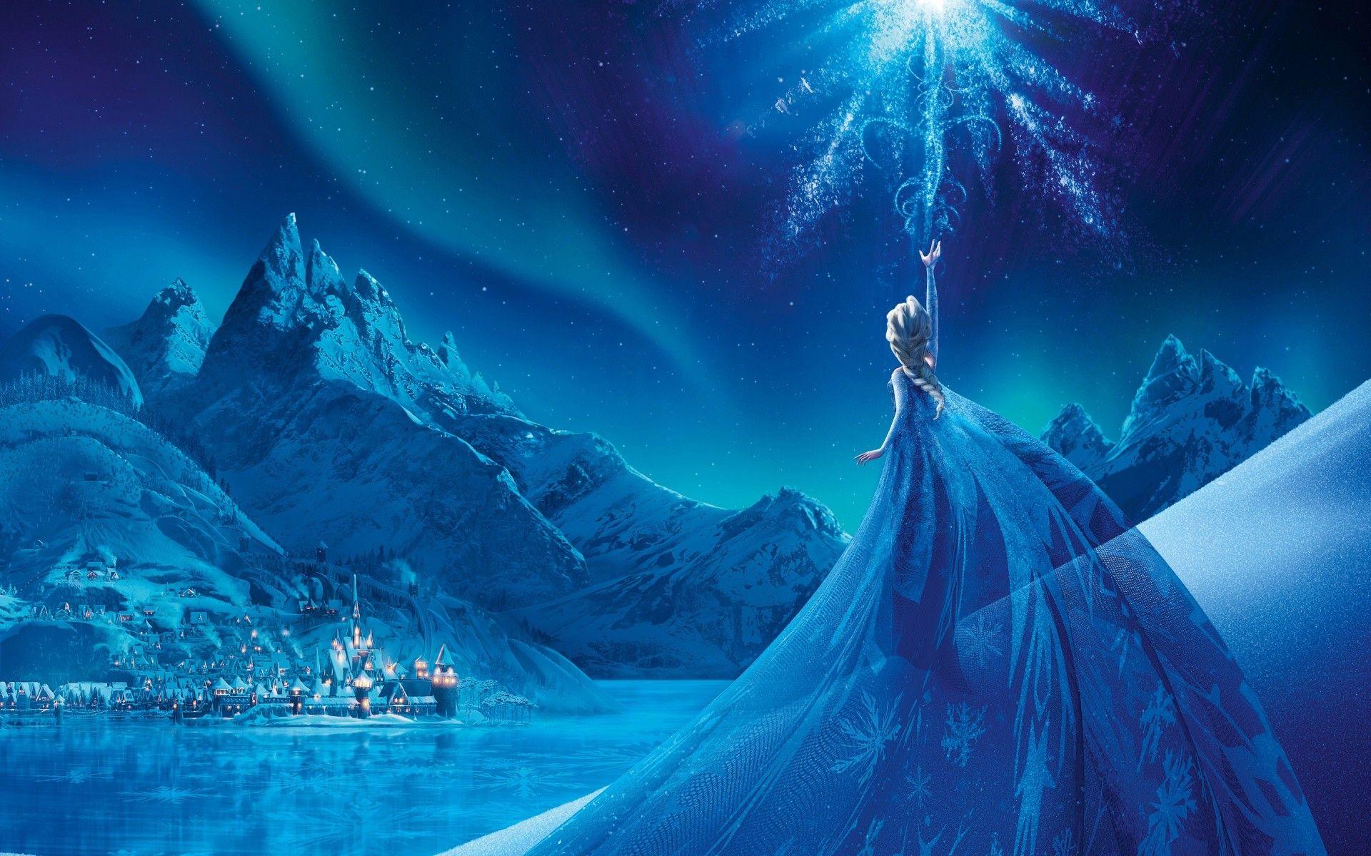 Disney Elsa Flees to the Mountains Wallpaper Mural