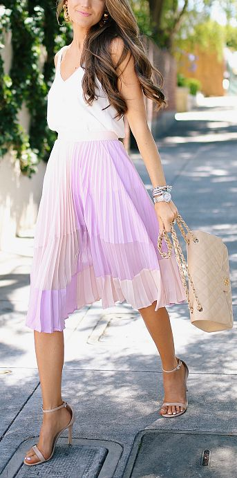 ec0989bdeccf Lilac pleated skirt | Style | Fashion, Trendy outfits, Style