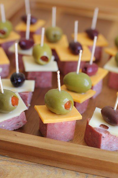 how to host summer bridal and baby showers antipasto skewers