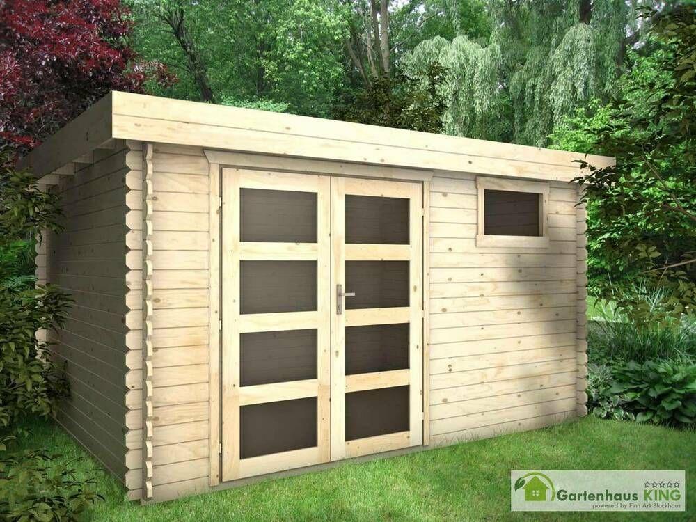 eBay Sponsored Flachdach Gartenhaus Holz 4x4m Holzhaus