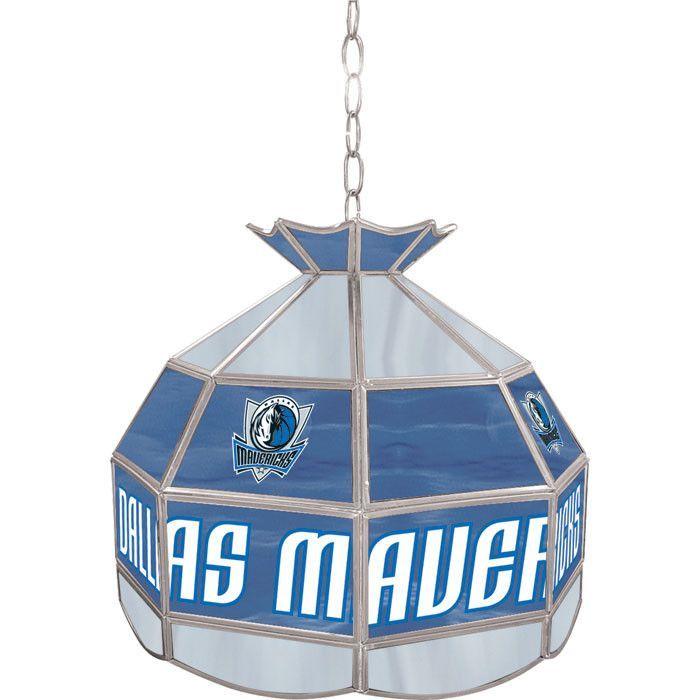 NBA1600-Dm Dallas Mavericks NBA 16 Inch Tiffany Style Lamp
